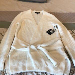 Simply Vera Wang tie cardigan sweater